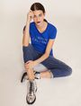 ARMANI EXCHANGE STUD ACCENT MINIMALIST LOGO CREW Logo T-shirt [*** pickupInStoreShipping_info ***] a