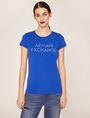 ARMANI EXCHANGE STUD ACCENT MINIMALIST LOGO CREW Logo T-shirt [*** pickupInStoreShipping_info ***] f