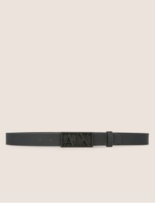 ARMANI EXCHANGE MATTE CUTOUT PLAQUE BELT Belt [*** pickupInStoreShippingNotGuaranteed_info ***] r