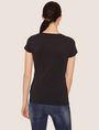 ARMANI EXCHANGE STUD ACCENT MINIMALIST LOGO CREW Logo T-shirt Woman e