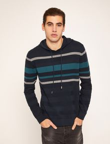ARMANI EXCHANGE MULTI-STRIPE SWEATER HOODIE Hoodie Man f