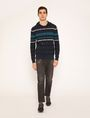 ARMANI EXCHANGE MULTI-STRIPE SWEATER HOODIE Hoodie Man d