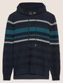 ARMANI EXCHANGE MULTI-STRIPE SWEATER HOODIE Hoodie Man r
