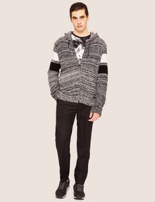 ARMANI EXCHANGE STRIPED ZIP-UP SWEATER HOODIE Hoodie [*** pickupInStoreShippingNotGuaranteed_info ***] d