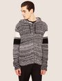 ARMANI EXCHANGE STRIPED ZIP-UP SWEATER HOODIE Hoodie [*** pickupInStoreShippingNotGuaranteed_info ***] f