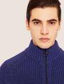 ARMANI EXCHANGE COLORBLOCKED WOOL-BLEND SWEATER JACKET Cardigan [*** pickupInStoreShippingNotGuaranteed_info ***] b