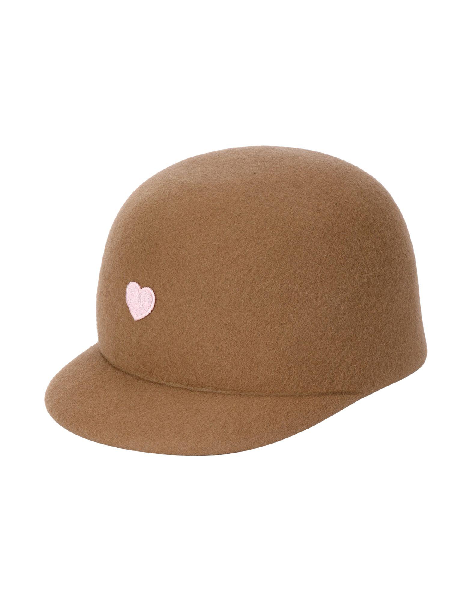《送料無料》FEDERICA MORETTI レディース 帽子 ベージュ M ウール 100%