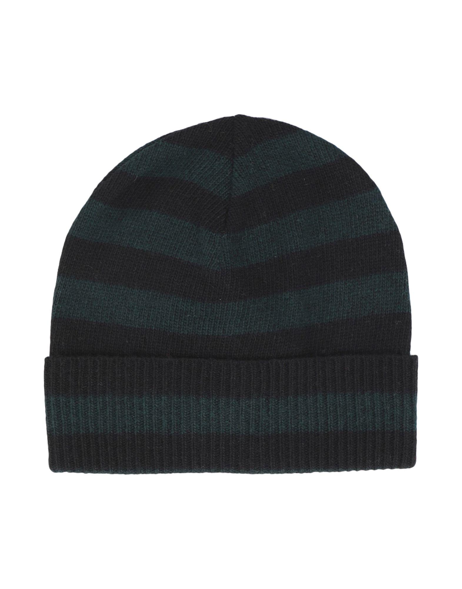 《セール開催中》ESSENTIEL ANTWERP メンズ 帽子 ダークグリーン one size ナイロン 35% / ウール 30% / レーヨン 30% / カシミヤ 5% LIVERPOOL