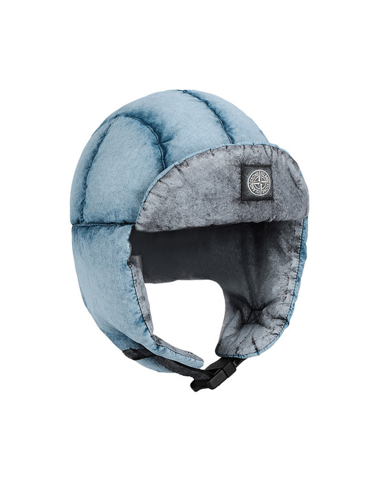 Hat 90138 TELA NYLON DOWN WITH DUST COLOR FROST FINISH STONE ISLAND JUNIOR - 0