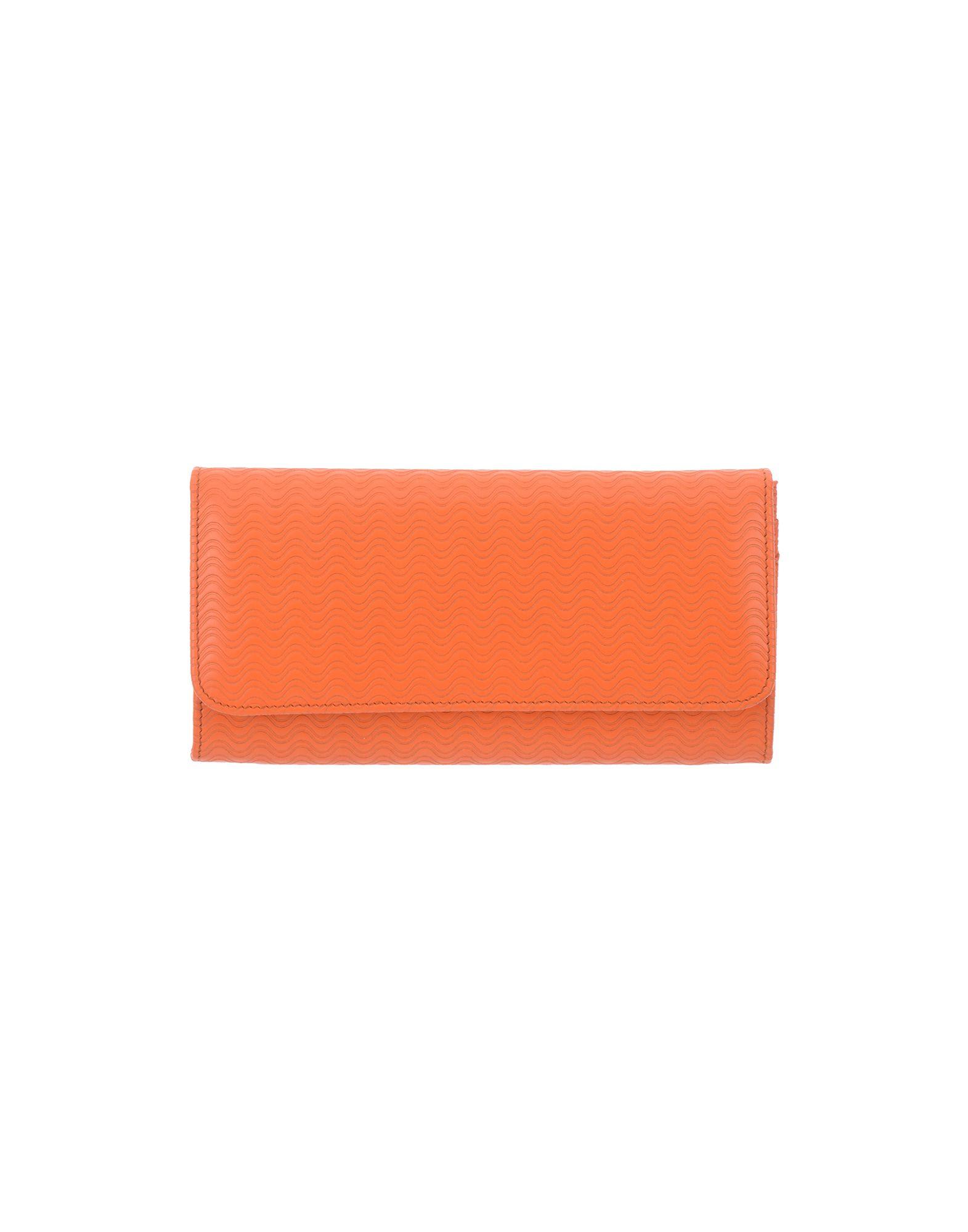 《送料無料》ZANELLATO レディース 財布 オレンジ 革