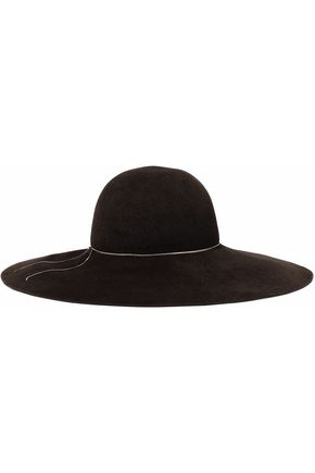 EUGENIA KIM Honey chain-trimmed rabbit-felt hat