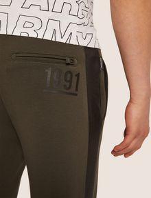 ARMANI EXCHANGE LOGO PRINT SIDE-STRIPE SWEATPANT Fleece Trouser Man b