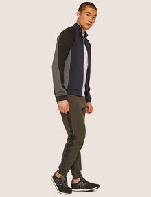 ARMANI EXCHANGE LOGO PRINT SIDE-STRIPE SWEATPANT Fleece Trouser Man d