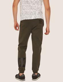 ARMANI EXCHANGE LOGO PRINT SIDE-STRIPE SWEATPANT Fleece Trouser Man e