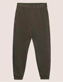 ARMANI EXCHANGE LOGO PRINT SIDE-STRIPE SWEATPANT Fleece Trouser Man r