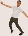 ARMANI EXCHANGE LOGO PRINT SIDE-STRIPE SWEATPANT Fleece Trouser Man a