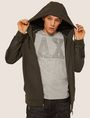 ARMANI EXCHANGE FUNNELNECK 1991 LOGO ZIP-UP HOODIE Sweatshirt [*** pickupInStoreShippingNotGuaranteed_info ***] a