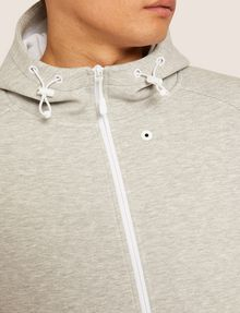 ARMANI EXCHANGE LOGO SLEEVE BONDED ZIP-UP HOODIE Sweatshirt [*** pickupInStoreShippingNotGuaranteed_info ***] b