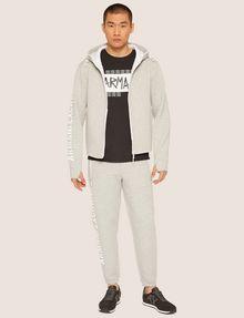 ARMANI EXCHANGE LOGO SLEEVE BONDED ZIP-UP HOODIE Sweatshirt [*** pickupInStoreShippingNotGuaranteed_info ***] f