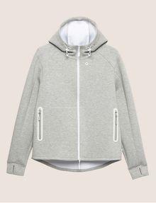 ARMANI EXCHANGE LOGO SLEEVE BONDED ZIP-UP HOODIE Sweatshirt [*** pickupInStoreShippingNotGuaranteed_info ***] r