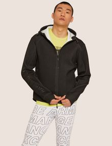 ARMANI EXCHANGE LOGO SLEEVE BONDED ZIP-UP HOODIE Sweatshirt [*** pickupInStoreShippingNotGuaranteed_info ***] f