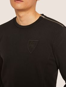 ARMANI EXCHANGE SEQUIN CREST BONDED SWEATSHIRT Sweatshirt [*** pickupInStoreShippingNotGuaranteed_info ***] b