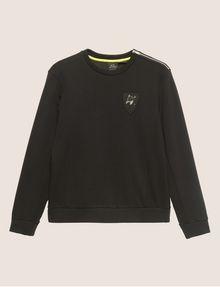 ARMANI EXCHANGE SEQUIN CREST BONDED SWEATSHIRT Sweatshirt [*** pickupInStoreShippingNotGuaranteed_info ***] r