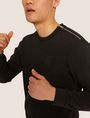 ARMANI EXCHANGE SEQUIN CREST BONDED SWEATSHIRT Sweatshirt [*** pickupInStoreShippingNotGuaranteed_info ***] a