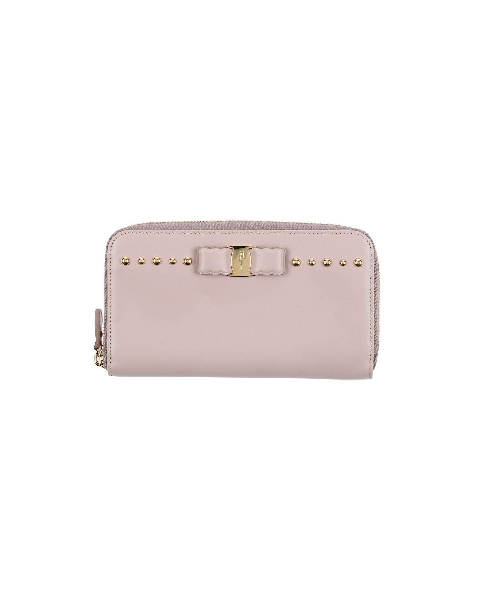 《送料無料》SALVATORE FERRAGAMO レディース 財布 ピンク 革