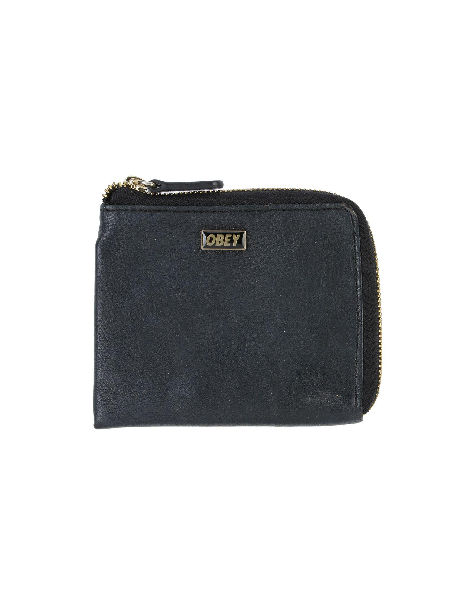 OBEY Кошелек для монет кошелек obey drexel coin wallet black