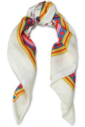 TORY BURCH Dancers printed silk-twill scarf