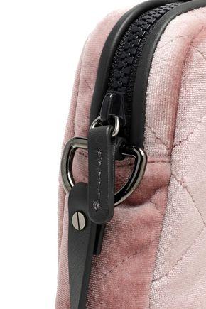 BRUNELLO CUCINELLI Leather-trimmed quilted velvet tablet case