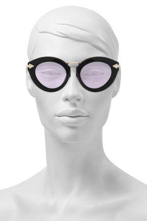 69f10c88c39b KAREN WALKER Cat-eye acetate and gold-tone sunglasses
