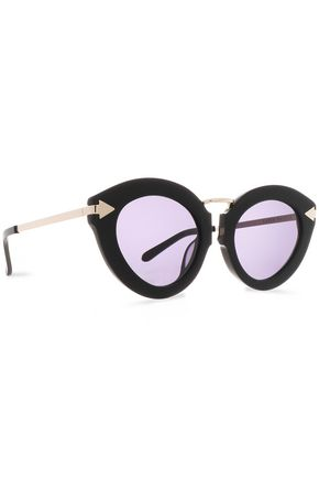 KAREN WALKER Cat-eye acetate and gold-tone sunglasses