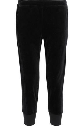 VINCE. Cropped cotton-velvet track pants
