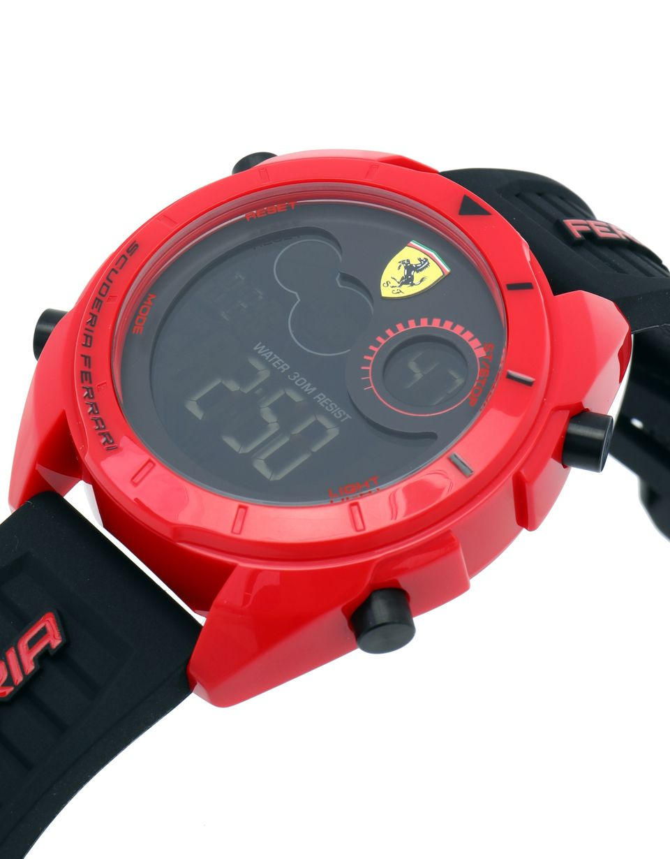 Scuderia Ferrari Online Store - Forza digital watch in red - Quartz Watches