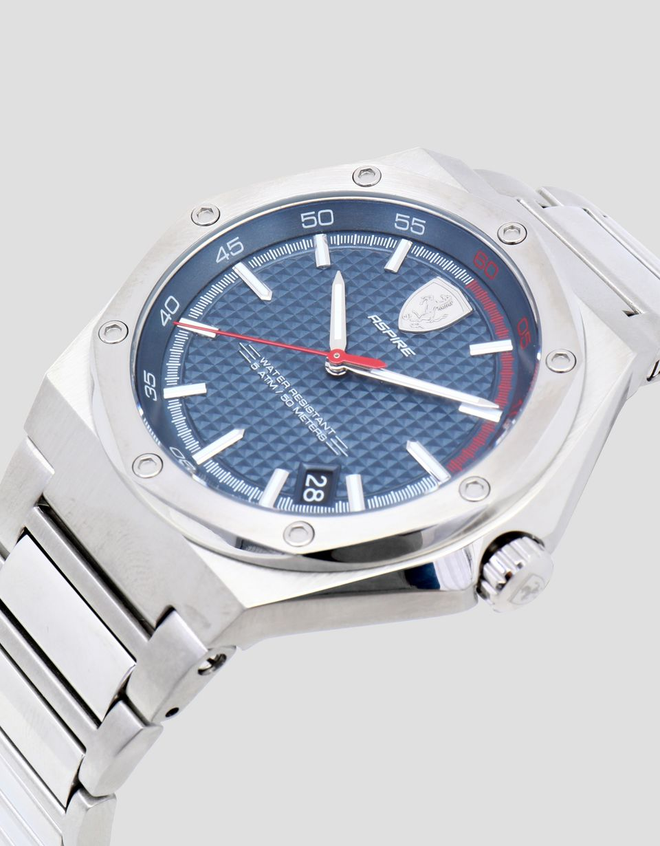 Scuderia Ferrari Online Store - Aspire steel watch with blue dial - Quartz Watches