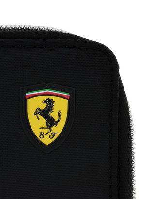 Scuderia Ferrari Online Store - Portefeuille Puma Scuderia Ferrari avec fermeture éclair pour homme - Portefeuilles à contour zippé