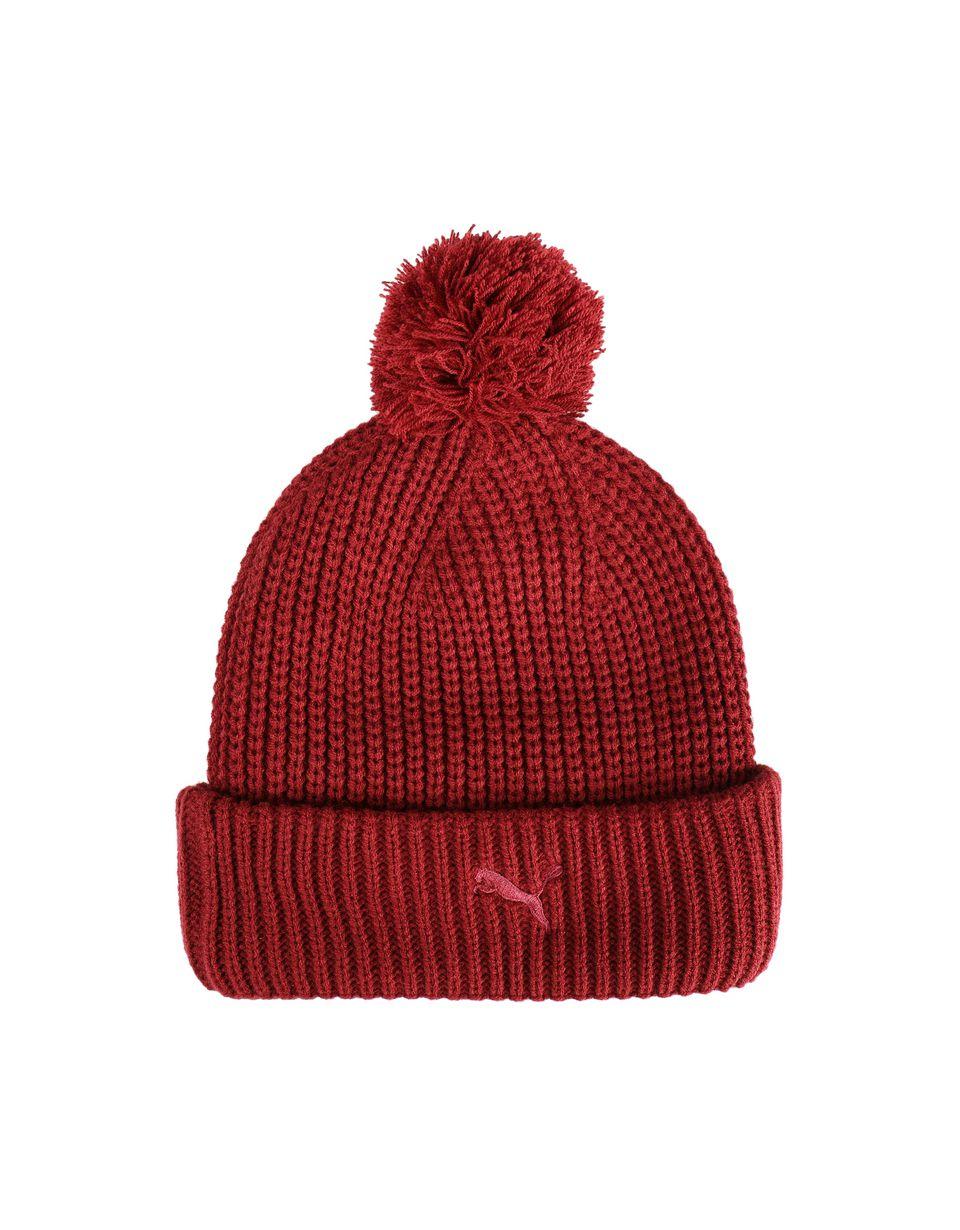 Scuderia Ferrari Online Store - Men's Puma x Scuderia Ferrari pom-pom beanie - Beanie Hats