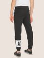 ARMANI EXCHANGE LOGO PRINT SIDE-STRIPE SWEATPANT Fleece Trouser Man e