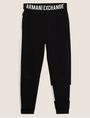 ARMANI EXCHANGE LOGO PRINT SIDE-STRIPE SWEATPANT Fleece Trouser Man r