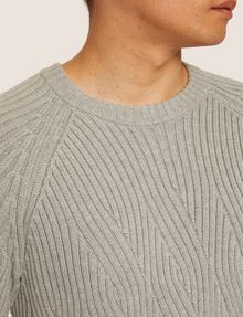 ARMANI EXCHANGE BRAIDED CABLE-KNIT RAGLAN SWEATER Crew Neck [*** pickupInStoreShippingNotGuaranteed_info ***] b