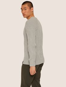 ARMANI EXCHANGE BRAIDED CABLE-KNIT RAGLAN SWEATER Crew Neck [*** pickupInStoreShippingNotGuaranteed_info ***] e