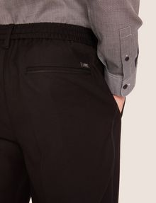 ARMANI EXCHANGE VELVET PIPING PLEATED TROUSER Smart Pant [*** pickupInStoreShippingNotGuaranteed_info ***] b