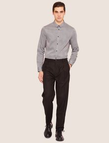 ARMANI EXCHANGE VELVET PIPING PLEATED TROUSER Smart Pant [*** pickupInStoreShippingNotGuaranteed_info ***] d