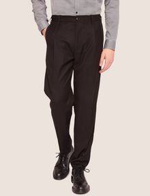 ARMANI EXCHANGE VELVET PIPING PLEATED TROUSER Smart Pant [*** pickupInStoreShippingNotGuaranteed_info ***] f