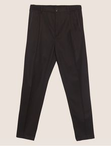 ARMANI EXCHANGE VELVET PIPING PLEATED TROUSER Smart Pant [*** pickupInStoreShippingNotGuaranteed_info ***] r