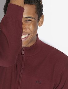 ARMANI EXCHANGE CLASSIC MOCKNECK SWEATER JACKET Fleece Jacket [*** pickupInStoreShippingNotGuaranteed_info ***] a