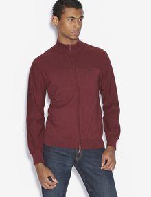 ARMANI EXCHANGE CLASSIC MOCKNECK SWEATER JACKET Fleece Jacket [*** pickupInStoreShippingNotGuaranteed_info ***] f