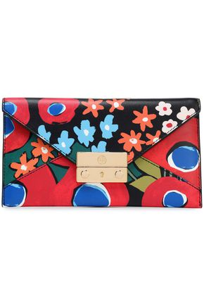 TORY BURCH Juliette floral-print leather wallet